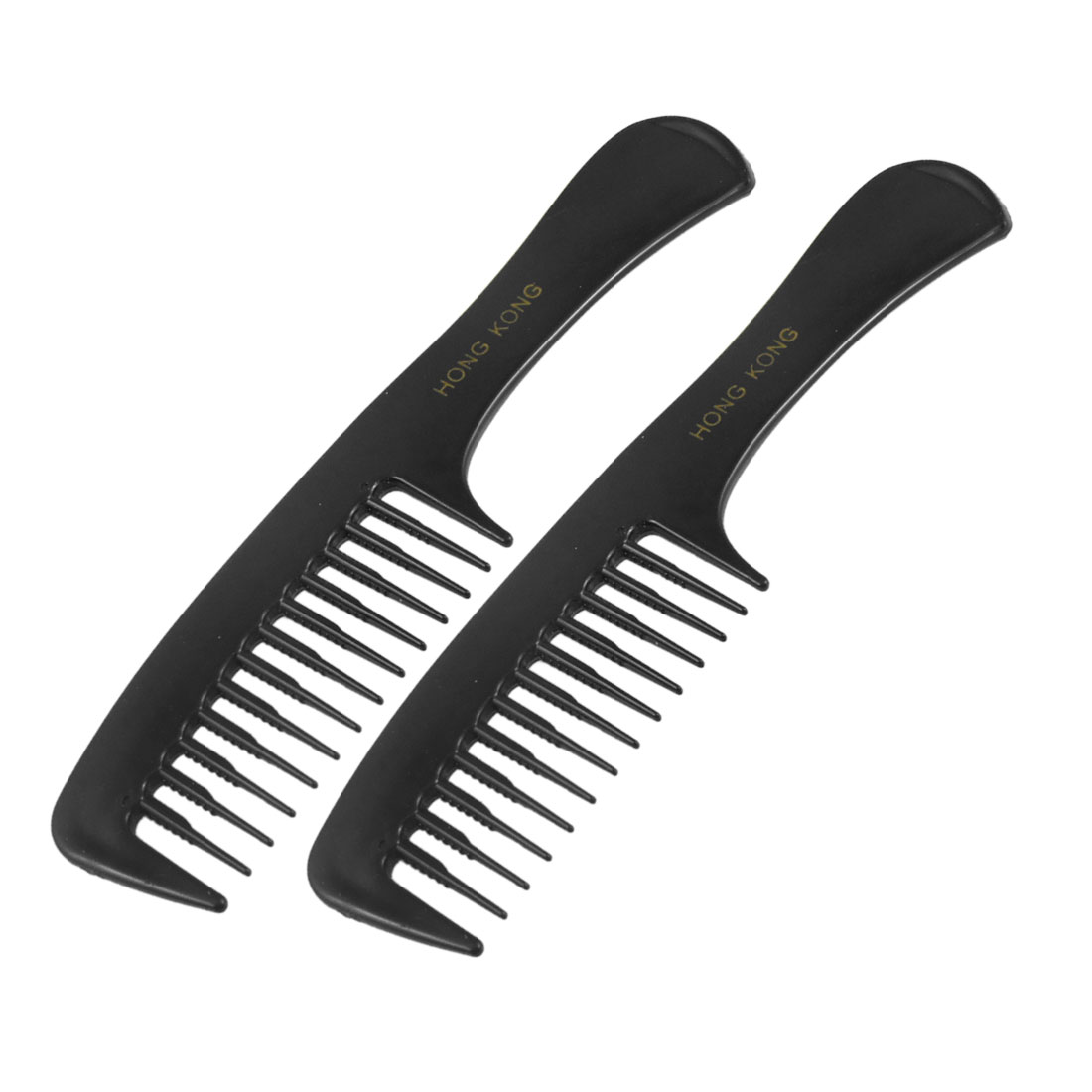 2 Pcs Hairstyle DIY Wide Teeth Plastic Curly Hair Care Handgrip Comb 7.7""