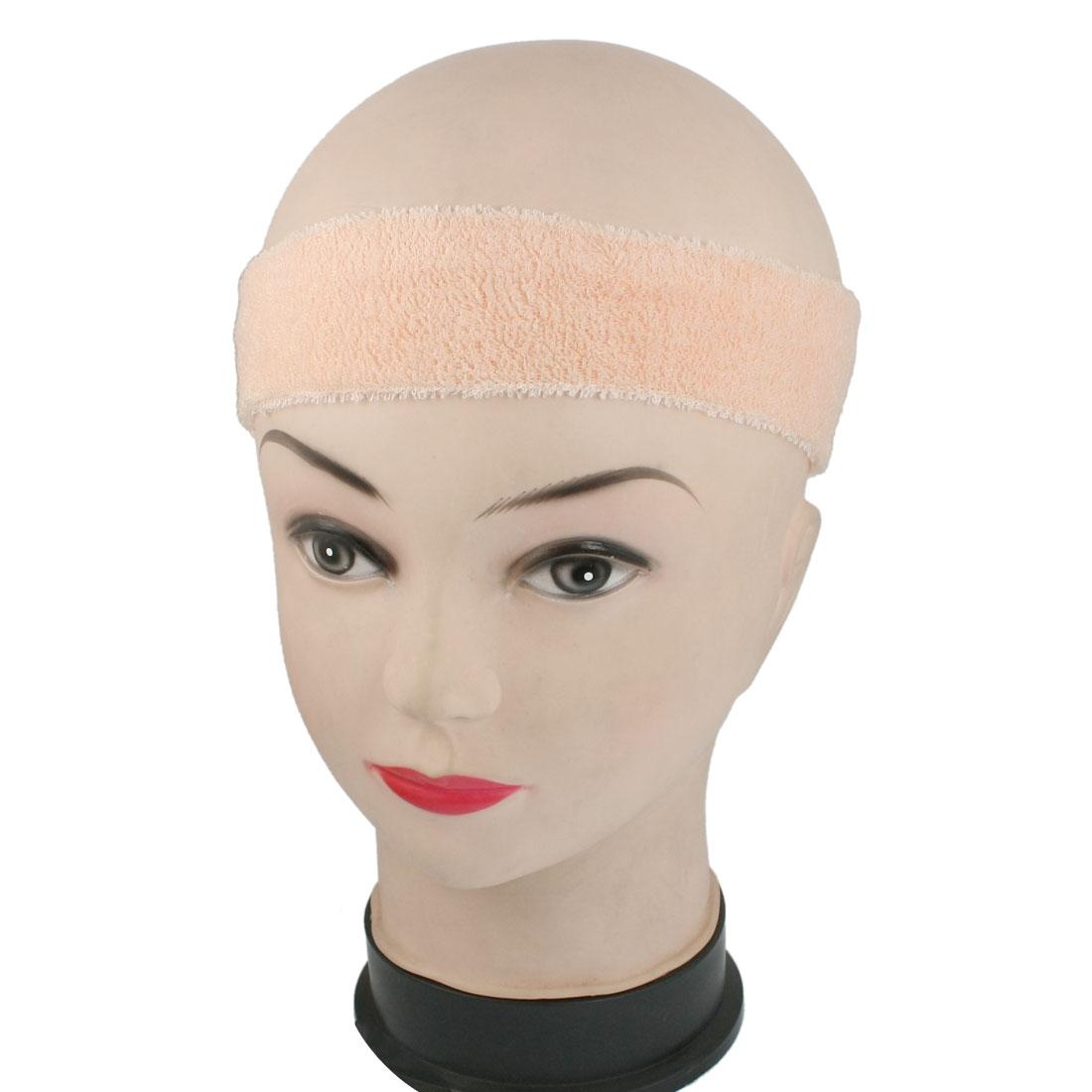 Bathroom Spa Face Washing Elastic Headband Hair Band Pale Apricot
