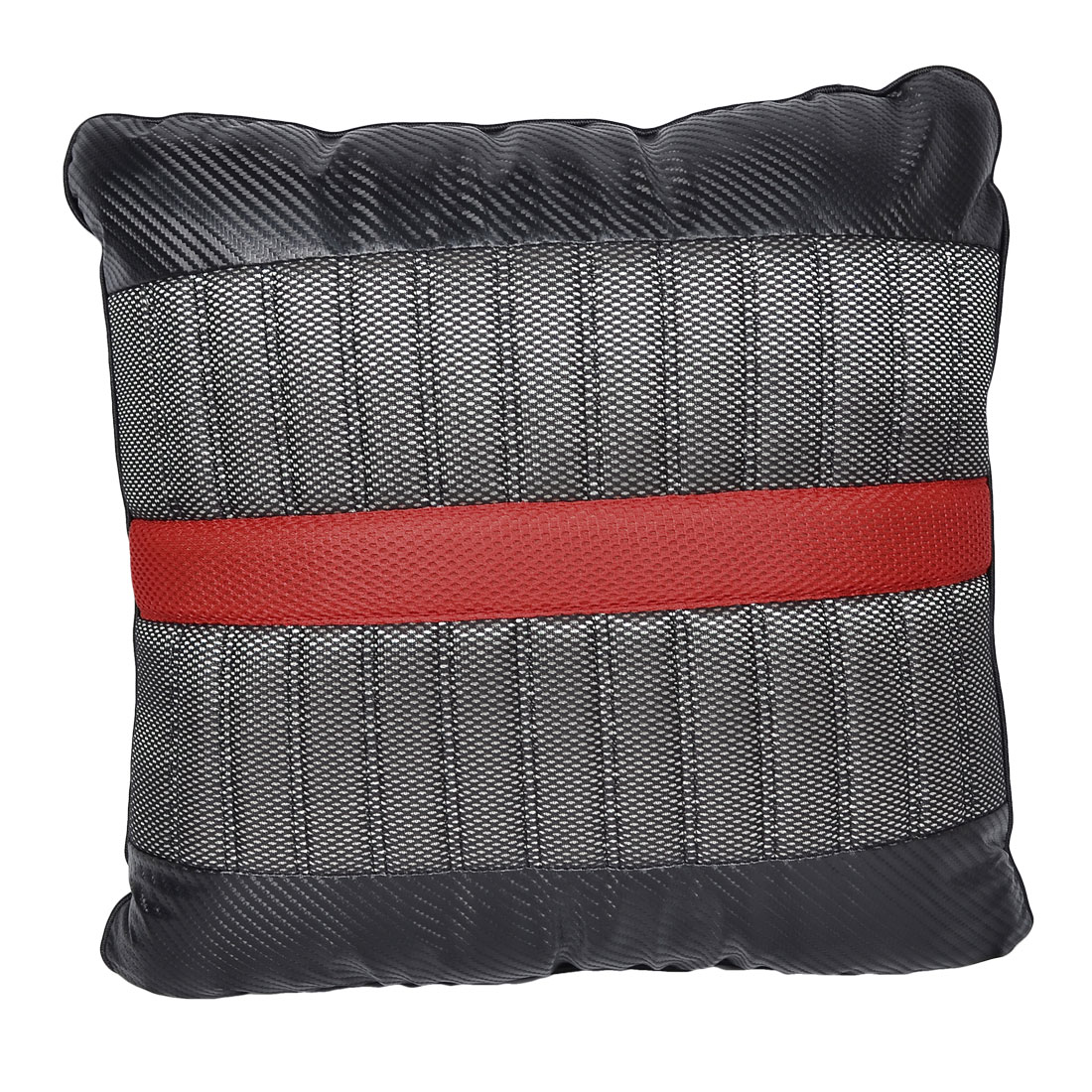 Auto Car Cotton Stuffing Bone Shape Head Neck Square Pillow Red Black