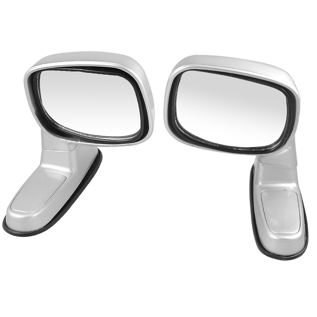 Pair Silver Tone Rotatable Left Right Sideview Assistant Mirror for Cars
