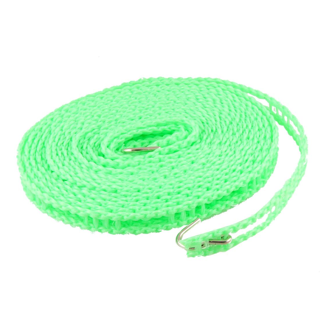 5 Meter Plastic Windproof Nonslip Outdoor Clothesline Green