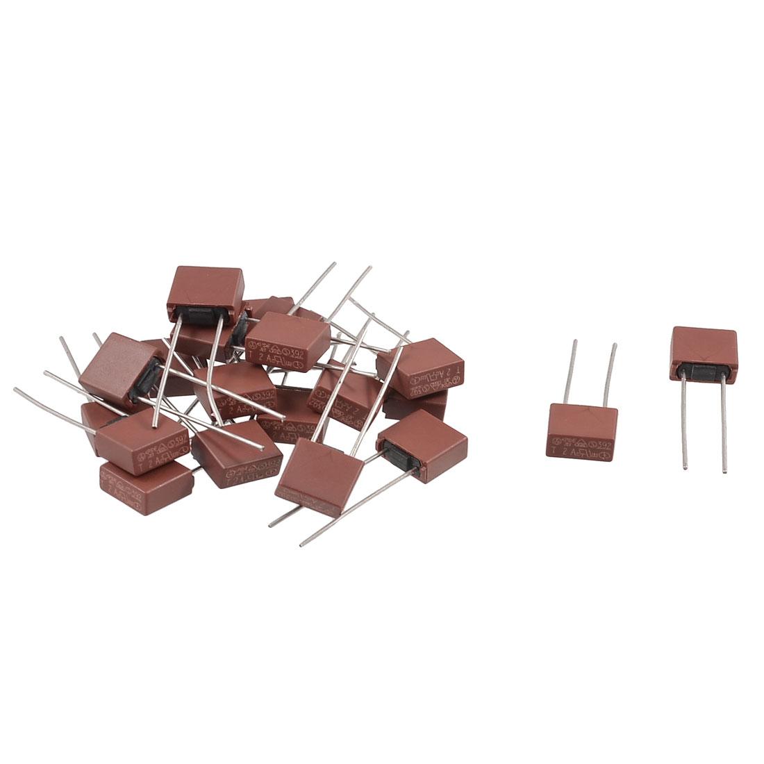 20 Pcs Through Hole T1A 1A 250V Radial Leaded Miniature Micro Fuses