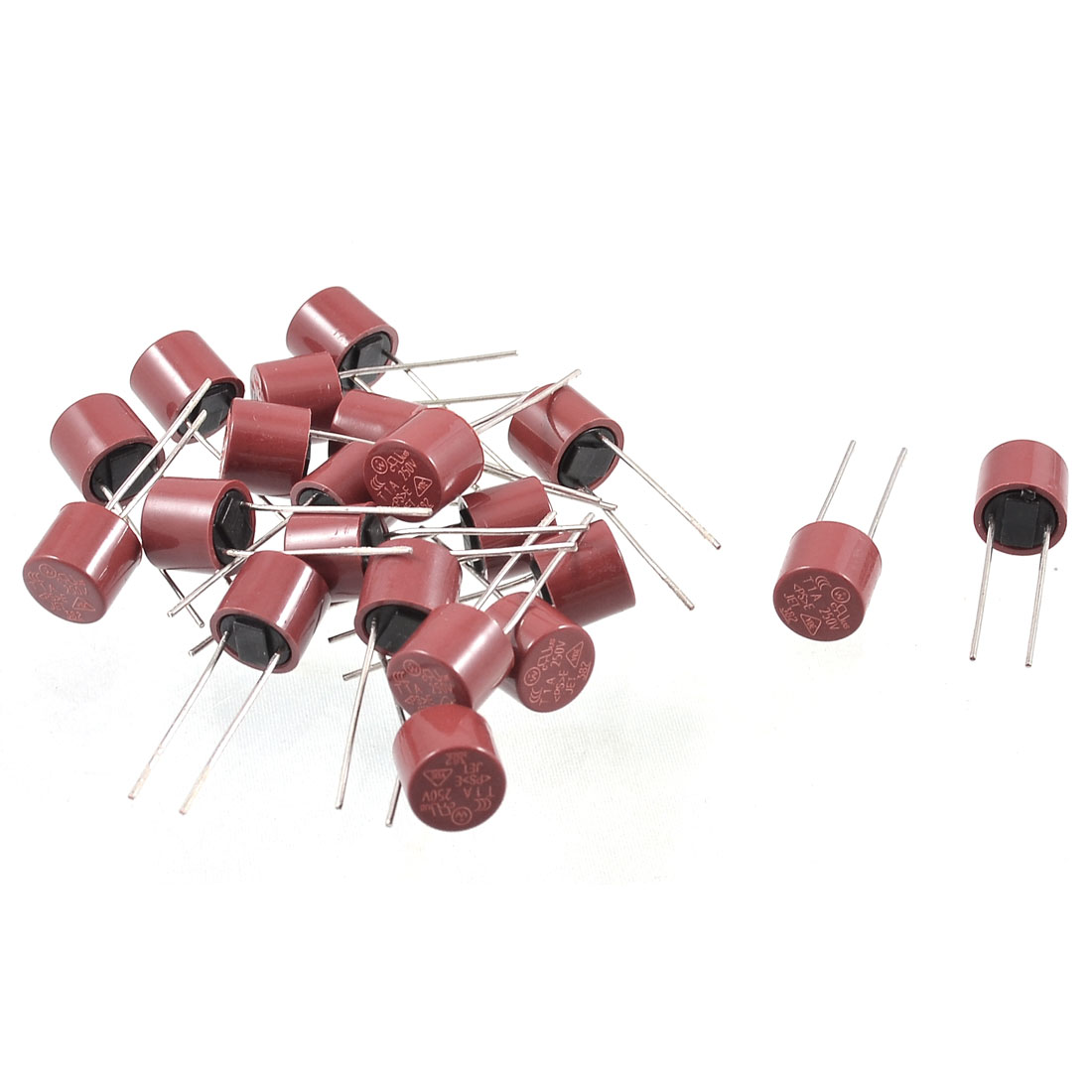20 x Cylinder Shaped Radial Leads Micro Slow Blow Fuse T3.15A 3.15A 250V