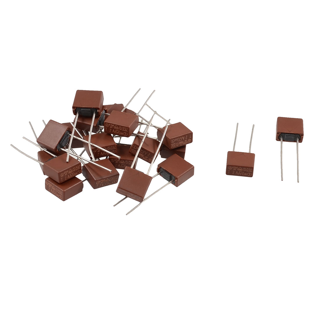 20 Pcs DIP Mounted Miniature Square Slow Blow Micro Fuse T4A 4A 250V