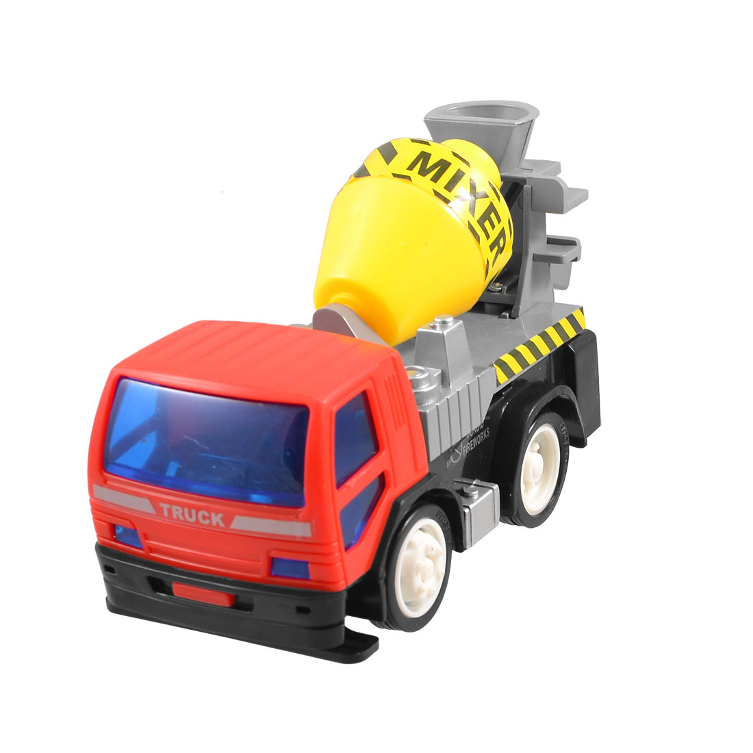 Child Colored Plastic Engineering Van Model Mixer Truck Car Toy