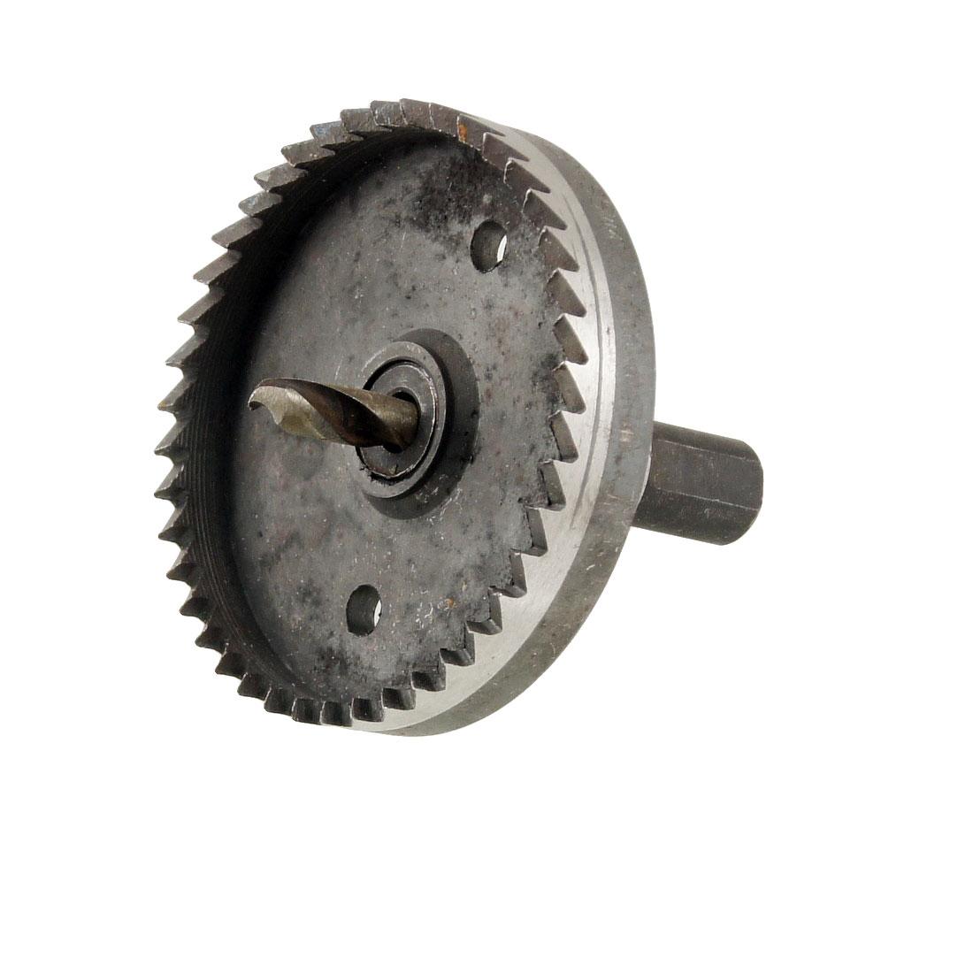 HSS 65mm Dia High Speed Steel Metal Drilling Bit Hole Saw Tool