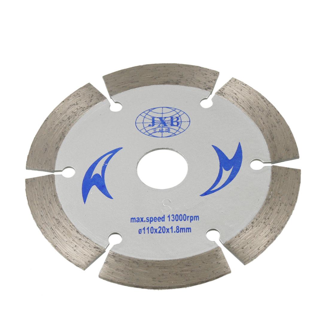 110mm Dia 6 Segments Diamond Circular Crack Saw Cutter
