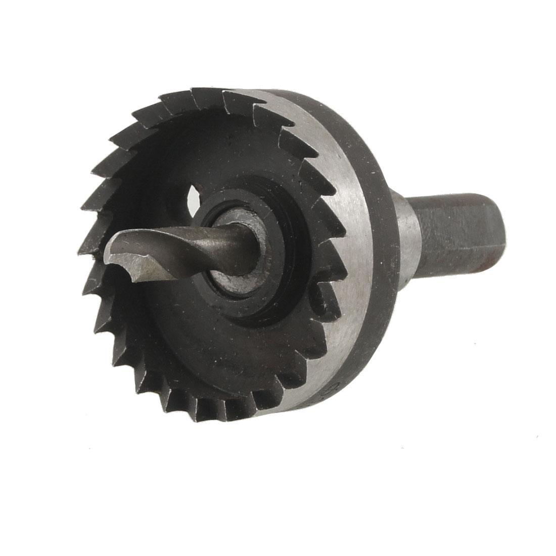 HSS 38mm Diameter Iron Cutting 6mm Twist Drilling Bit Hole Saw Tool