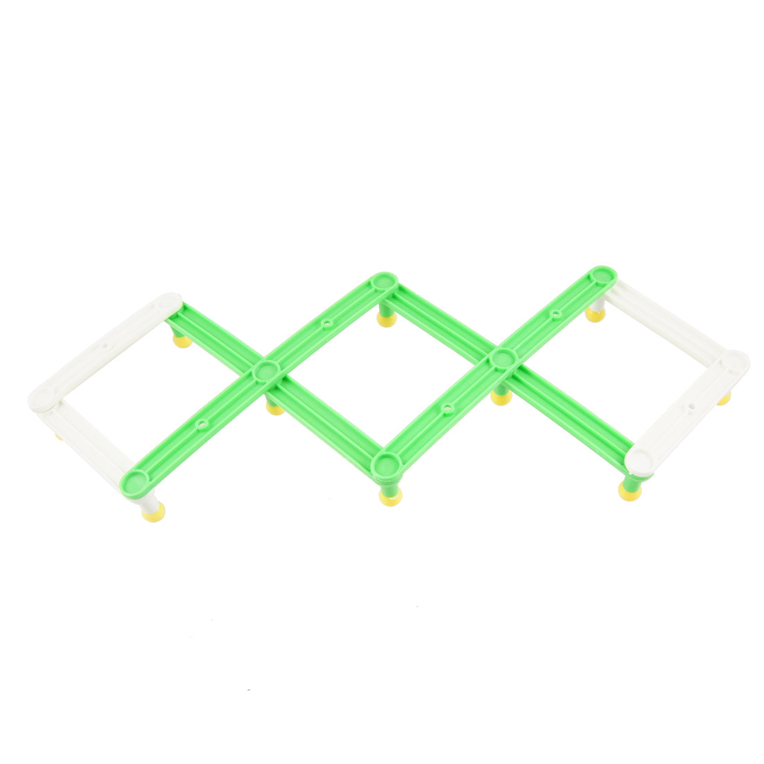 Home Plastic White Green Flexible Ten Round Knobs Clothes Hats Hanger