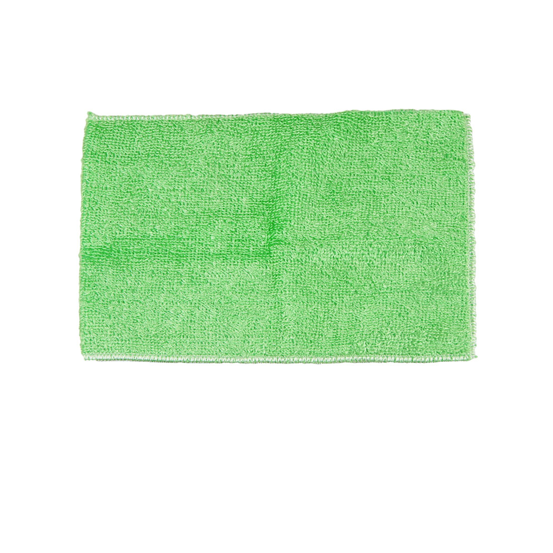"8.8"" x 7"" Bamboo Fiber Dish Wash Cloth Clean Towel Green for Kitchen"