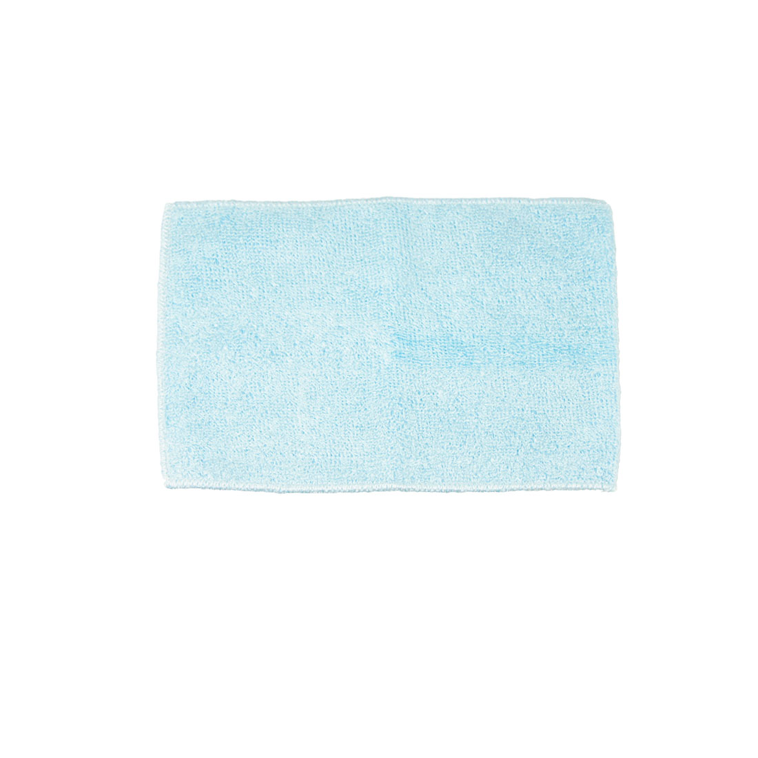 "8.8"" x 7"" Bamboo Fiber Dish Wash Cloth Clean Towel Light Blue for Kitchen"