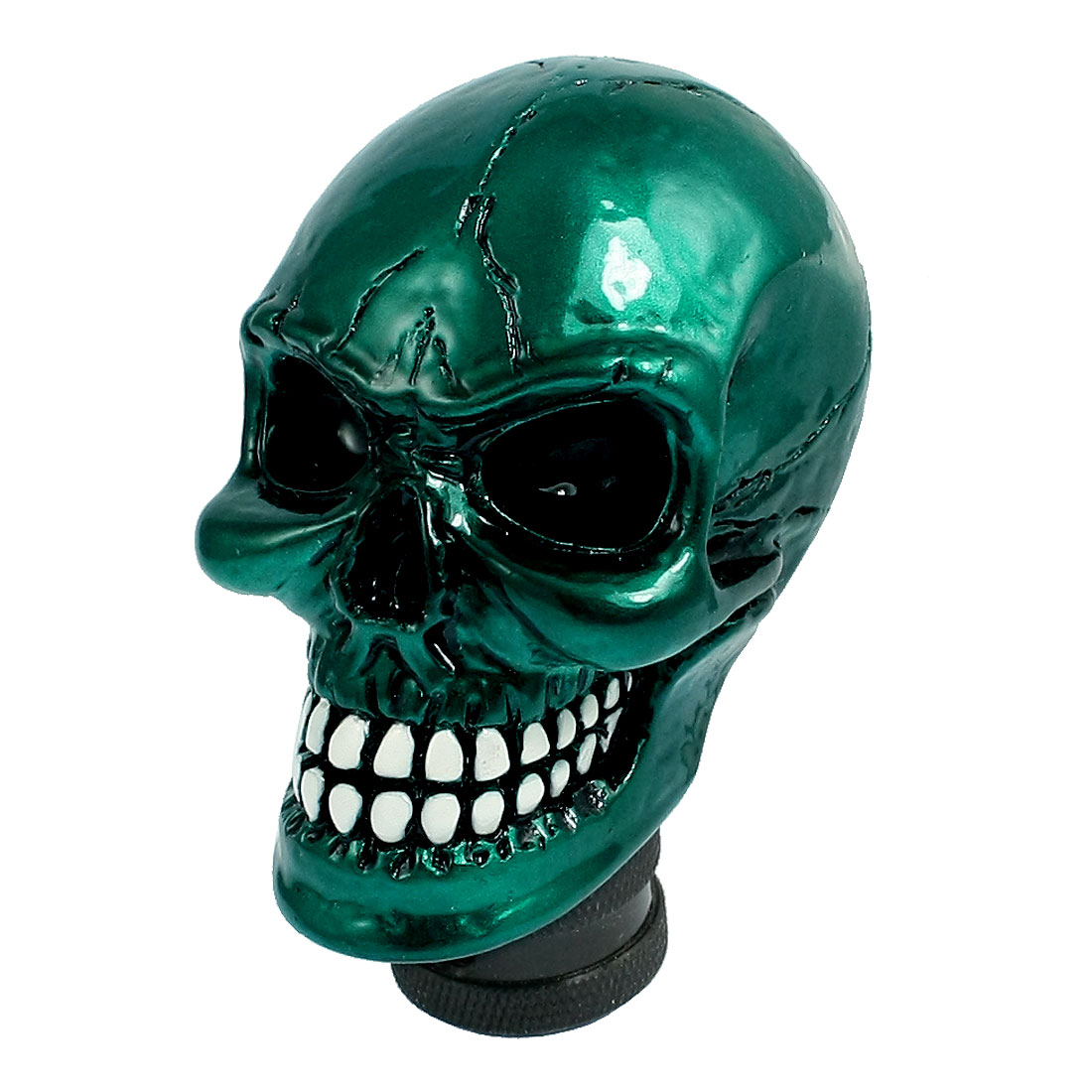 Cracked Skull Stick Shift Gear Shifter Knob Cover Teal Blue for Car Truck