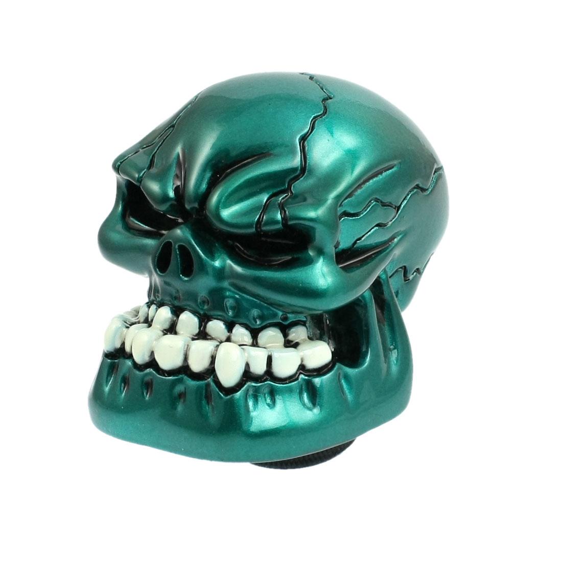 Universal Car Truck Human Wicked Skull Stick Shift Gear Shifter Knob Teal Blue