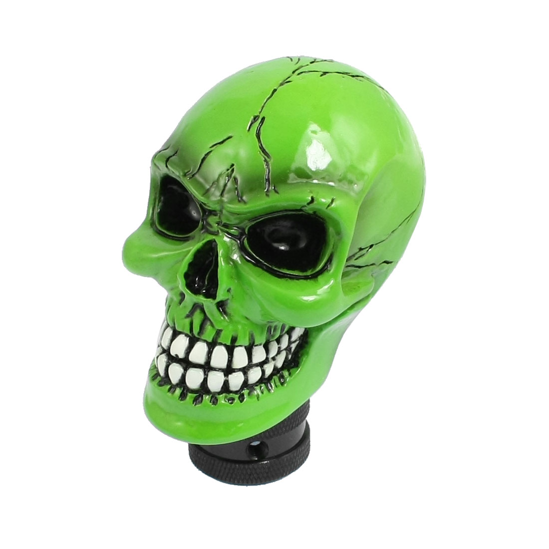 Universal Car Truck Wicked Cracked Skull Stick Shift Gear Knob Green