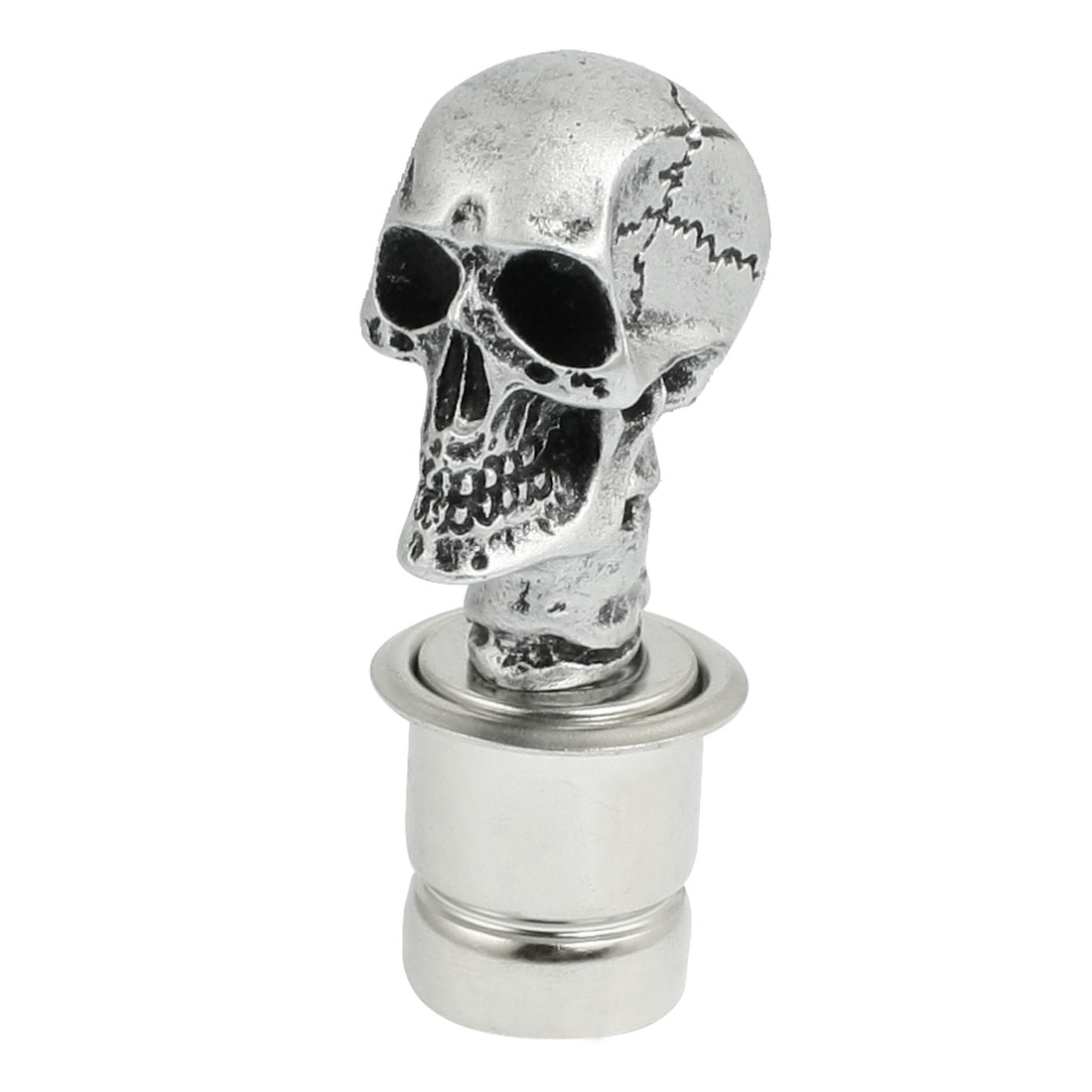 Silver Tone Wicked Craved Skull Universal Fit Car Cigarette Lighter Socket