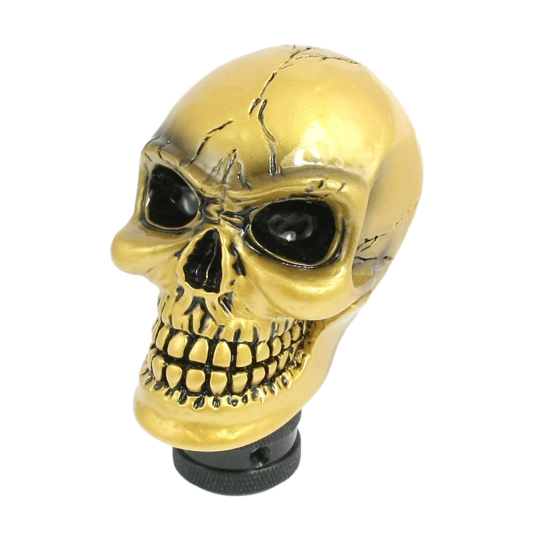 Yellow Brown Cracked Skull Universal Auto Car Gear Stick Shift Knob