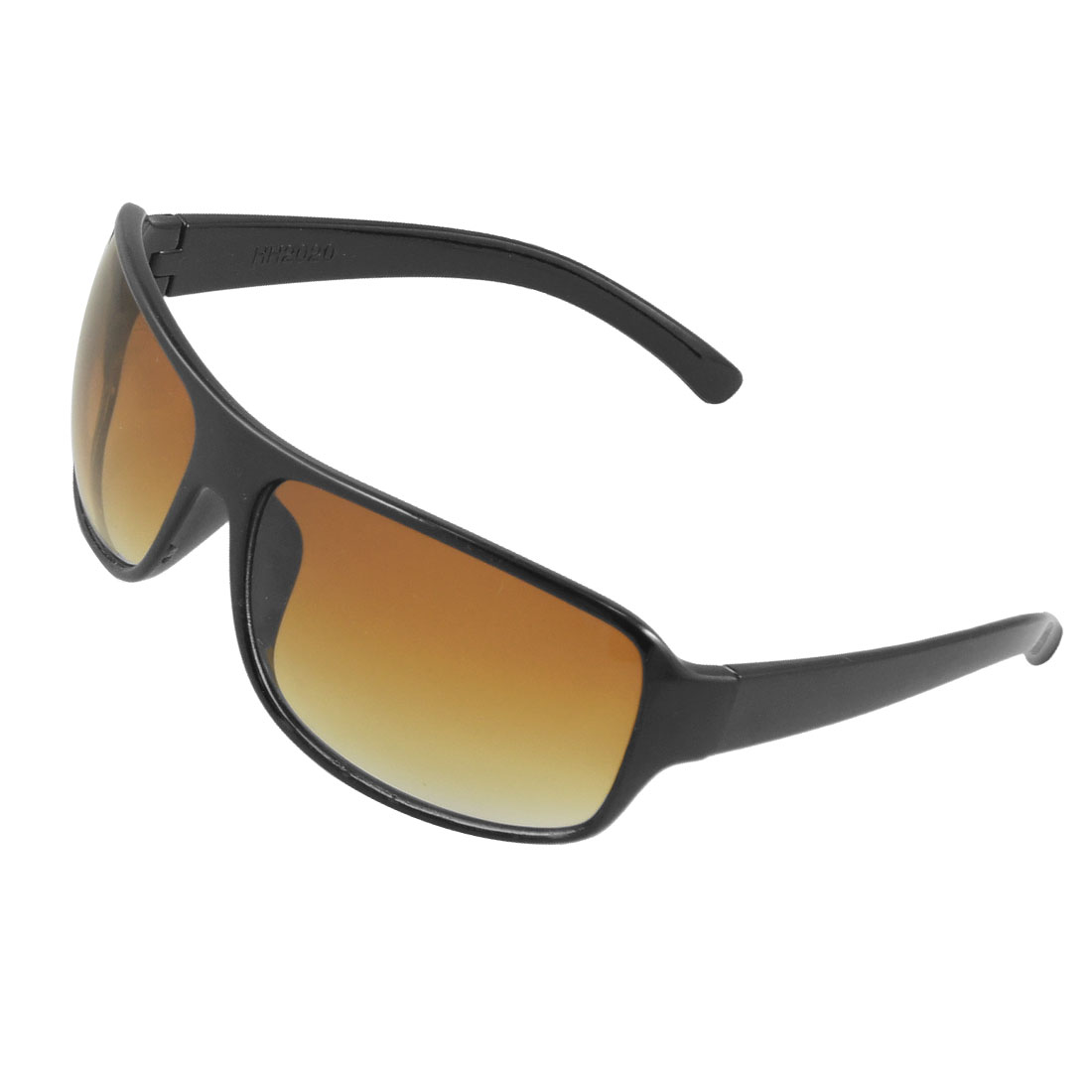 Clear Brown Lens Black Full Rim Frame Sunglasses for Men