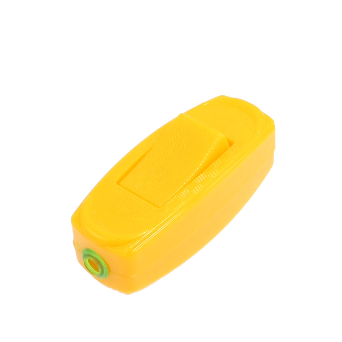 Yellow Rectangle Plastic Casing in Line Cord on/off Switch AC 250V 6A