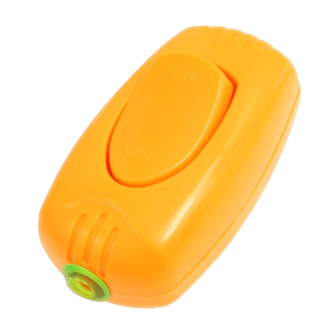 Oval Plastic in Line Cord Lamp Light Control On Off Switch Replacement Orange