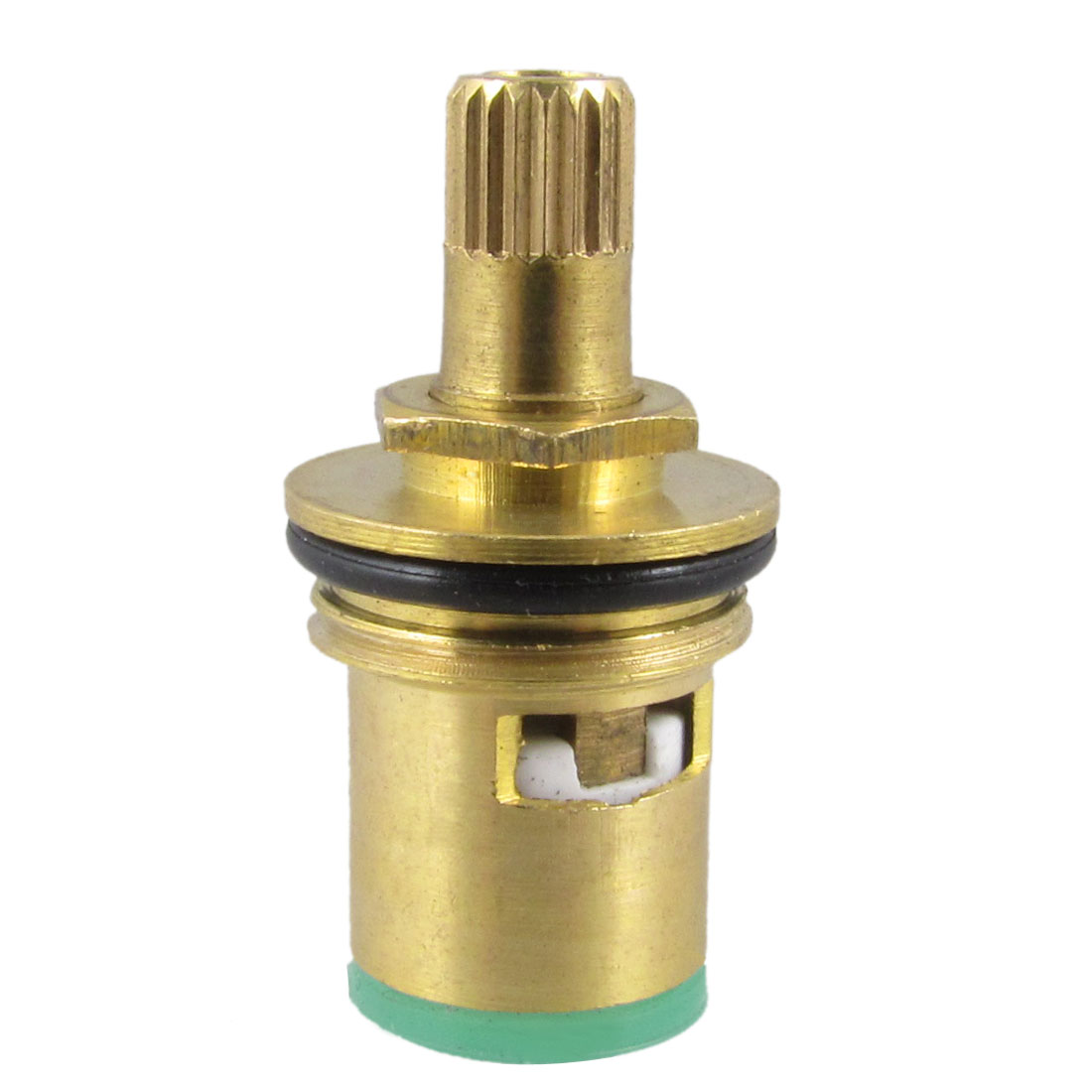 5mm Female Thread Ceramic Core Brass Faucet Cartridge Valve Gold Tone