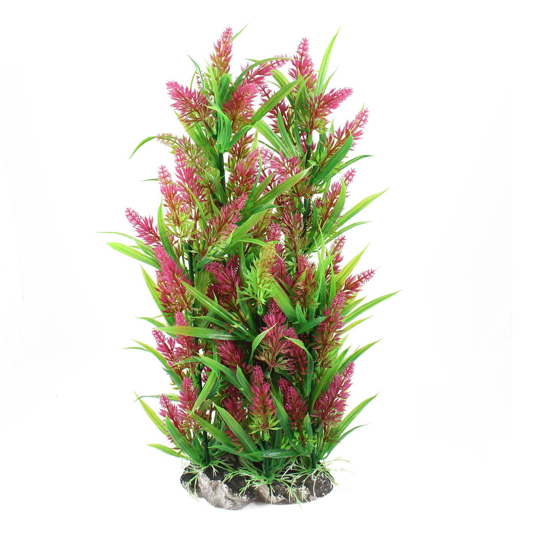 "15.7"" Height Red Green Manmade Aquarium Plastic Plant for Fish Tank"