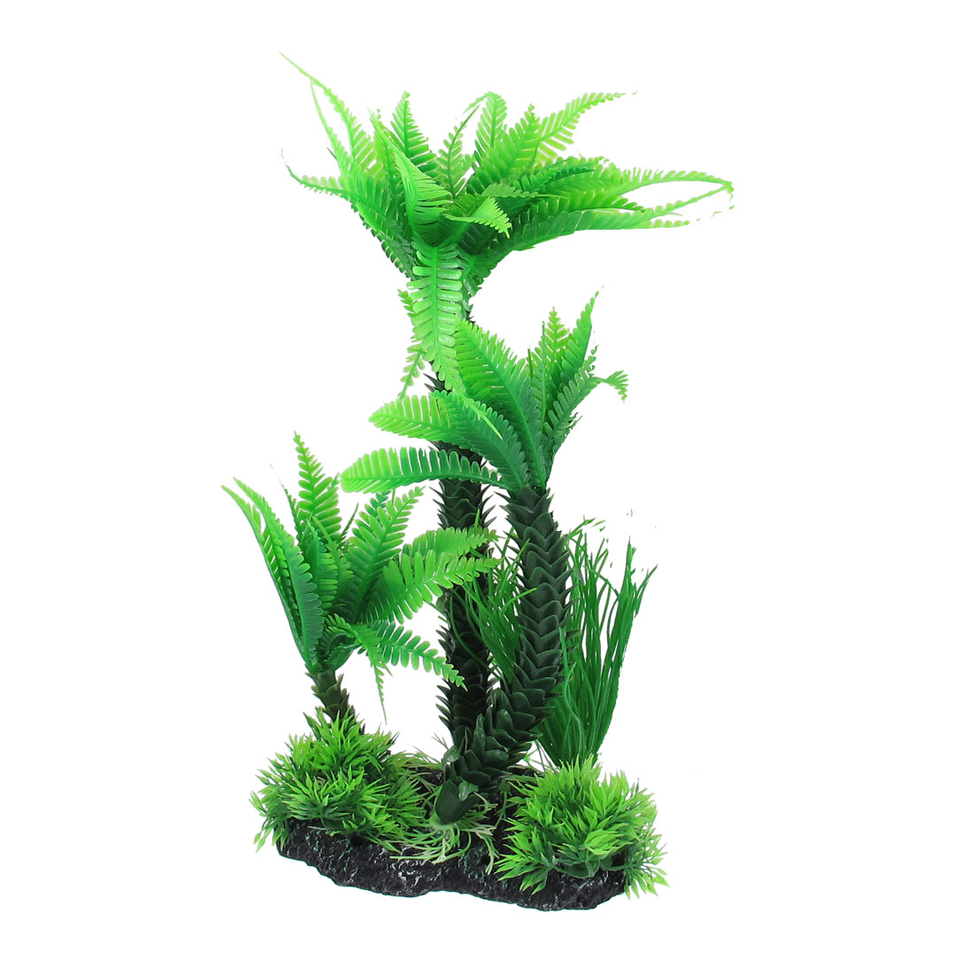 "13.4"" Height Green Manmade Aquarium Plastic Plant for Fish Tank"