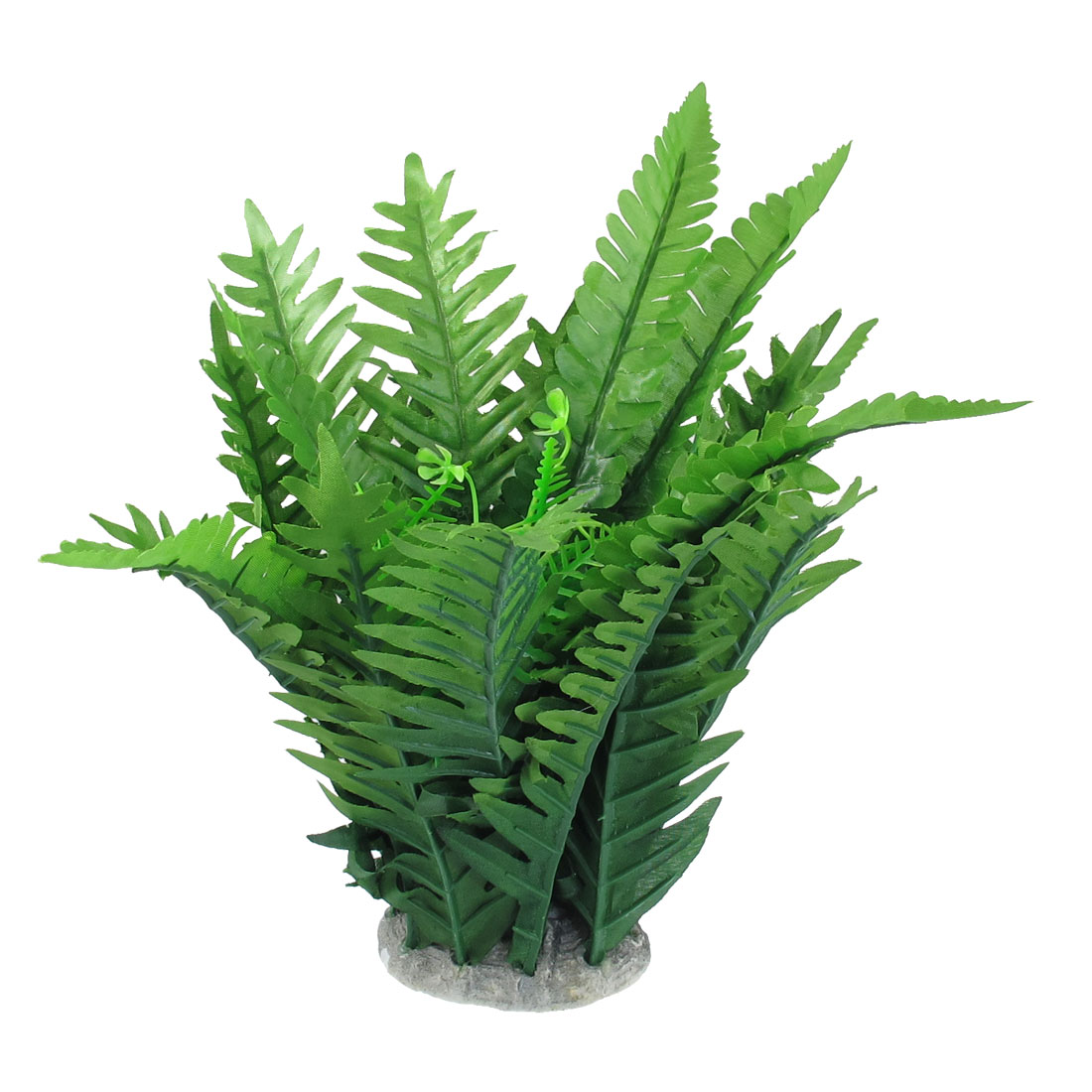 "10.4"" Height Green Manmade Aquarium Plastic Plant for Fish Tank"