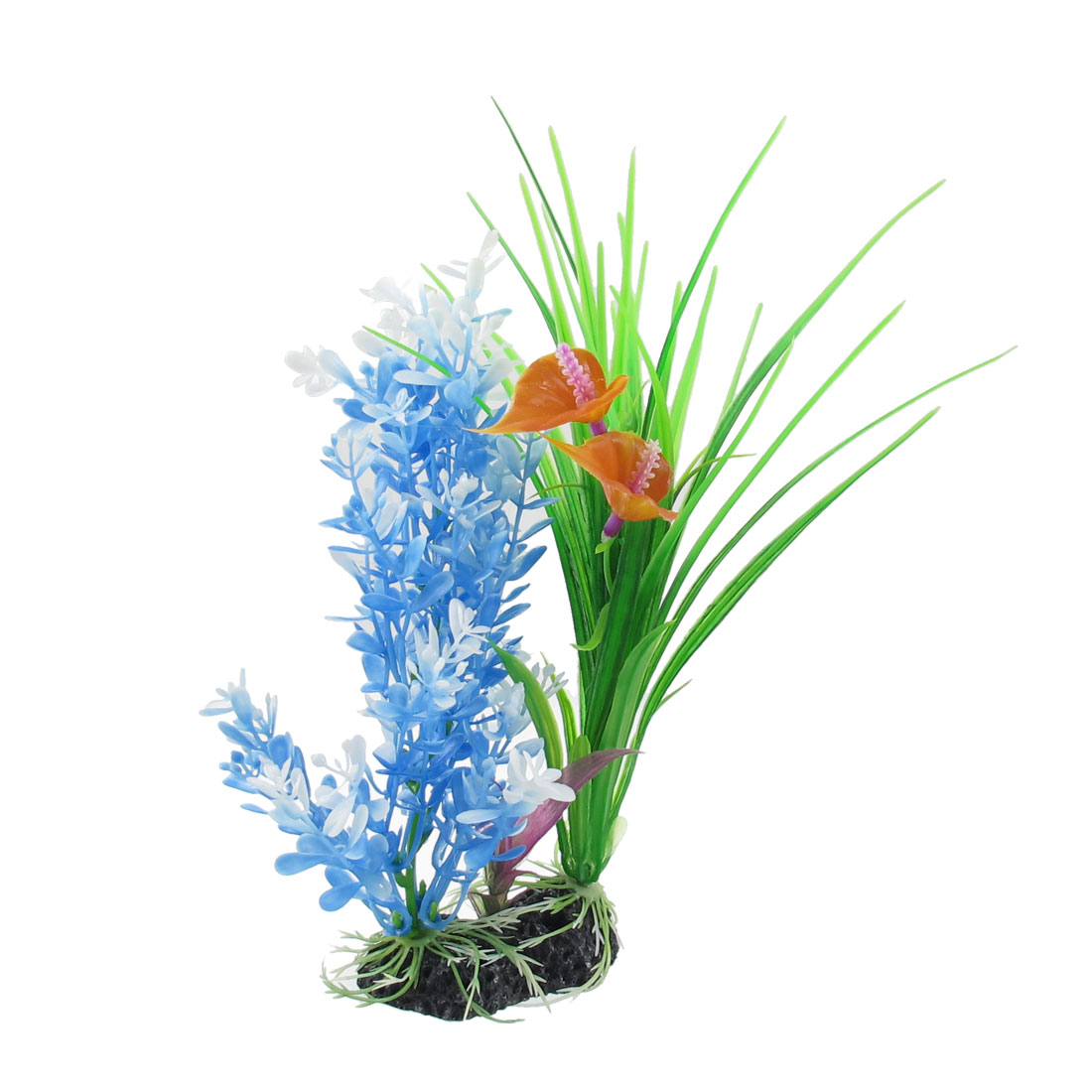 "9.4"" Height Manmade Plastic Flowering Colorful Plant for Aquarium Fish Tank"