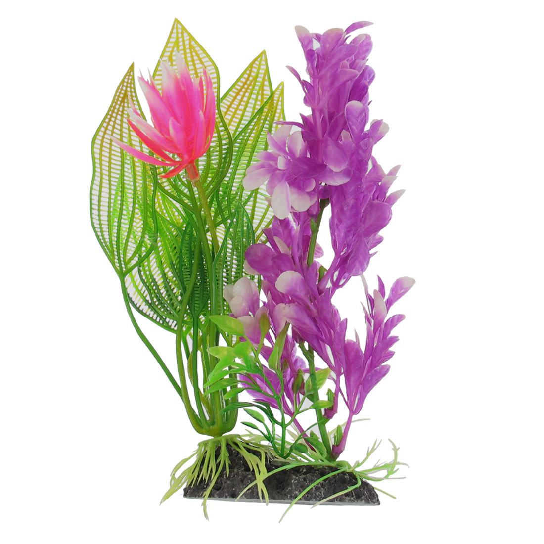 19cm Height Manmade Plastic Flowering Colorful Plant for Aquarium Fish Tank