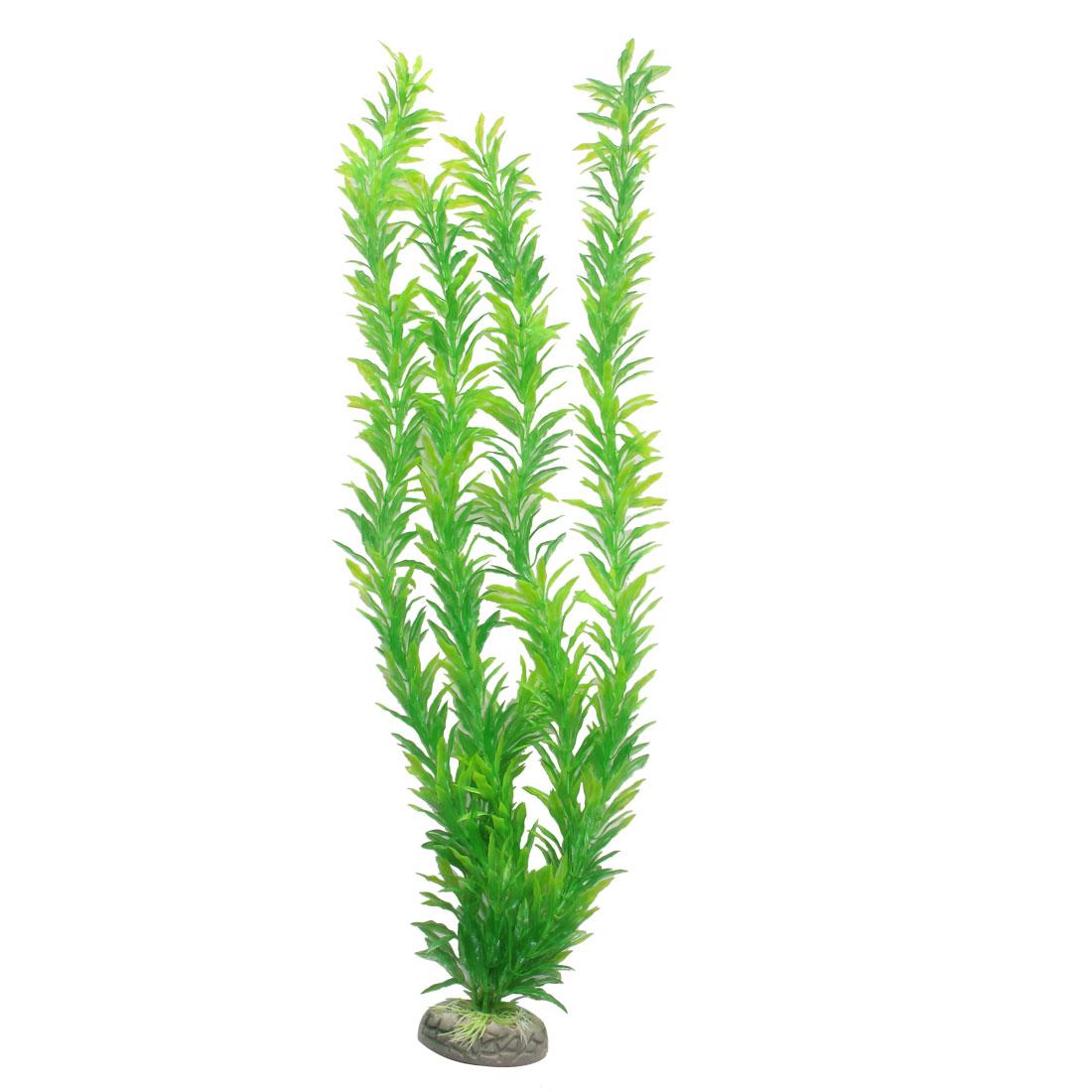 "18.1"" Height Green Manmade Aquarium Plastic Plant for Fish Tank"