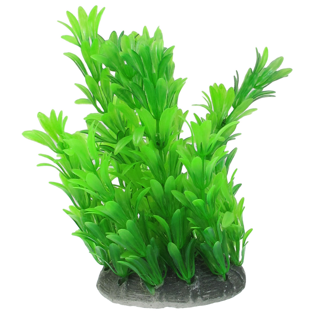 "5.9"" Height Green Artificial Aquarium Plastic Plant for Fish Tank"