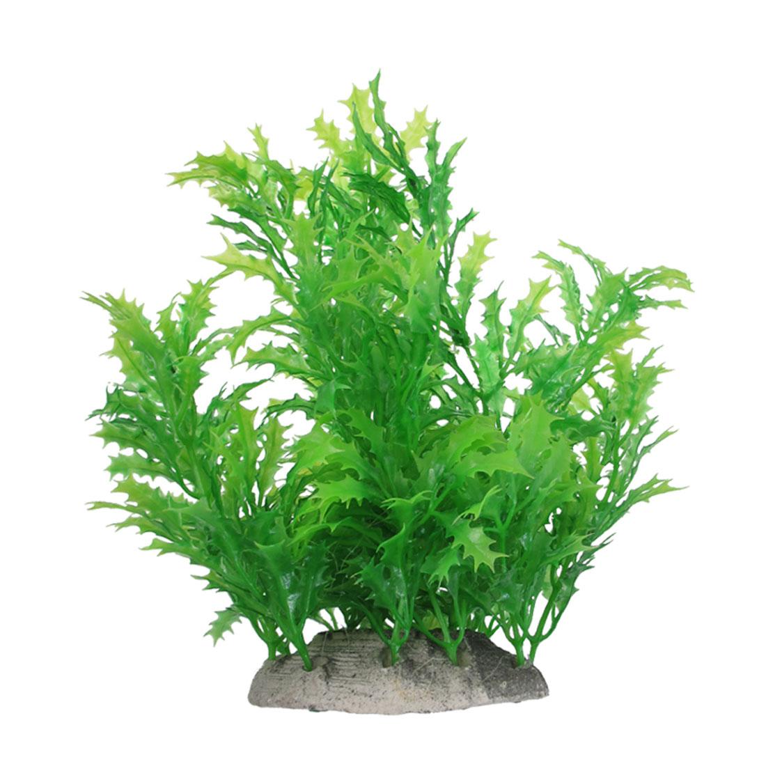 "7.1"" Height Green Manmade Aquarium Plastic Plant for Fish Tank"