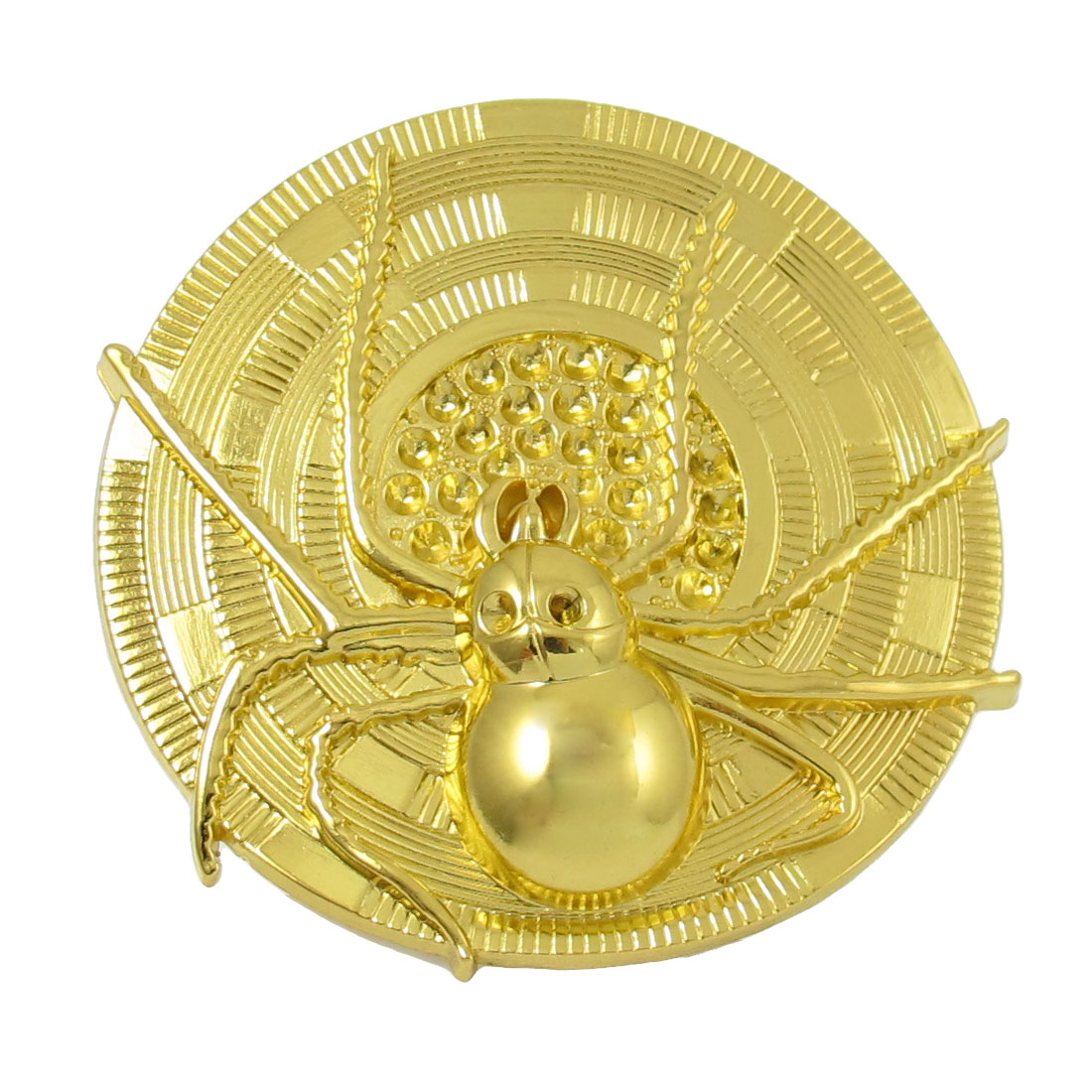 Gold Tone 3D Spider Pattern Grille Badge Decoration for Auto Car Vehicle