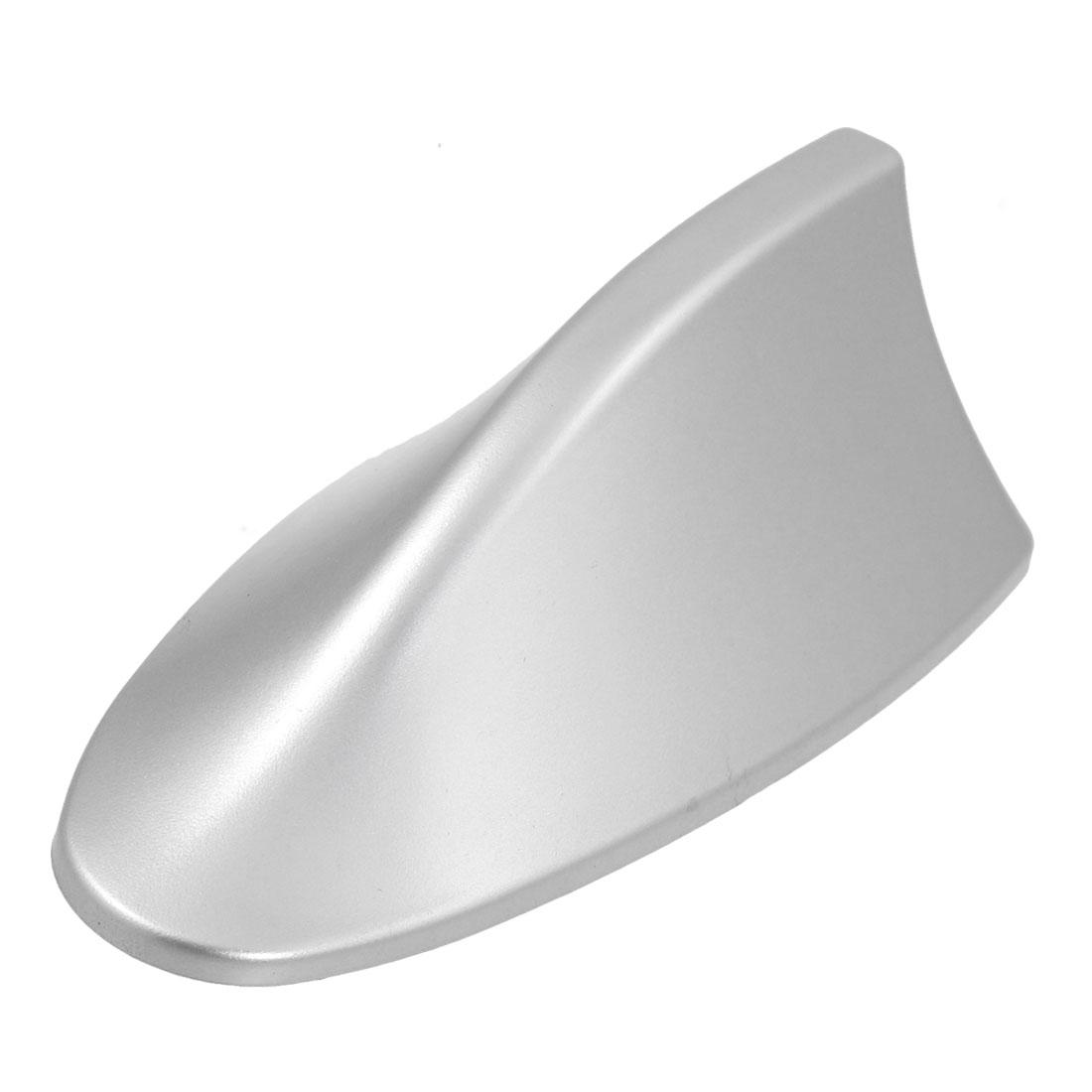 Auto Car Silver Tone Shark Fin Shape Adhesive Antenna Decoration