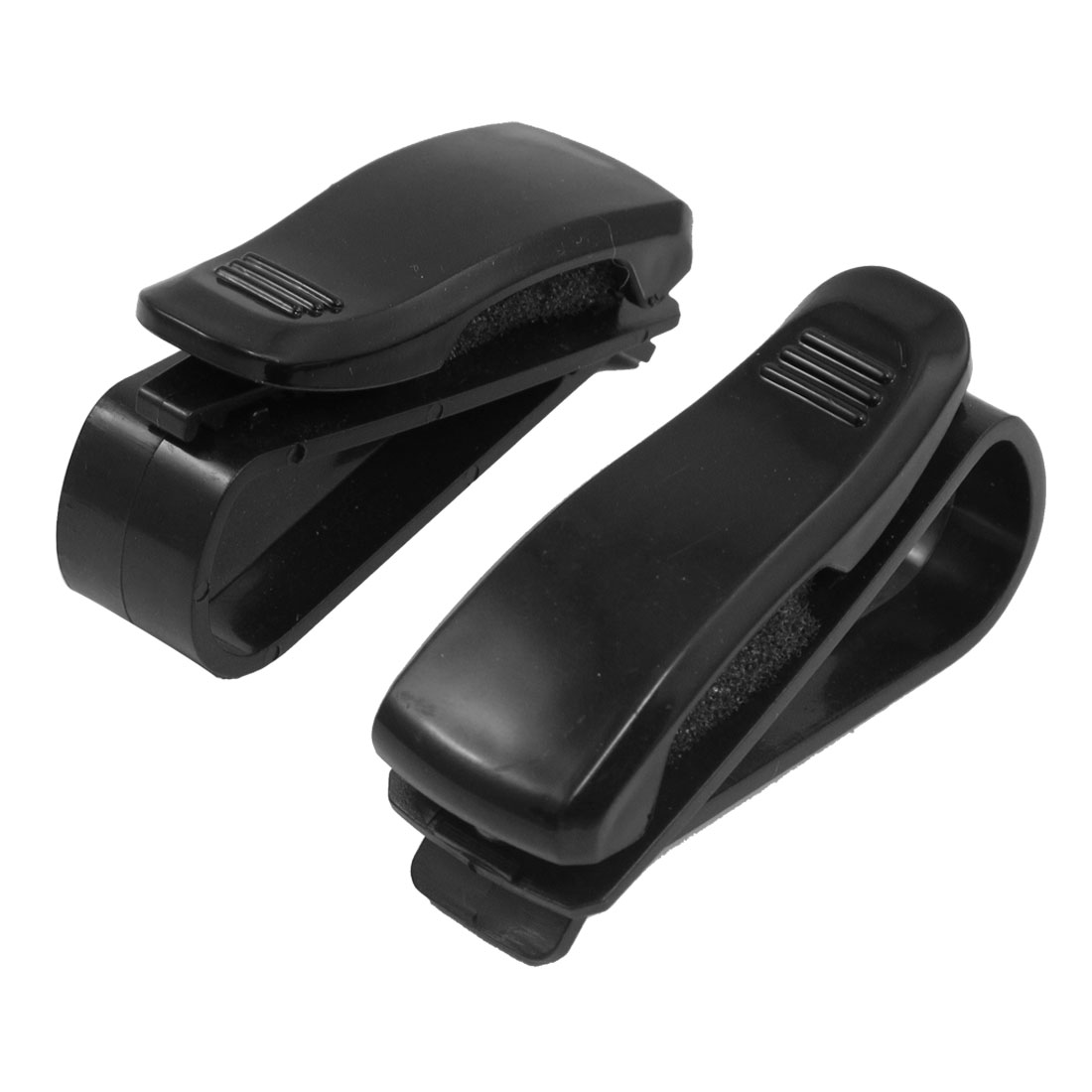 2 Pcs Black Plastic Sunglasses Eyeglasses Clip Rack Holder