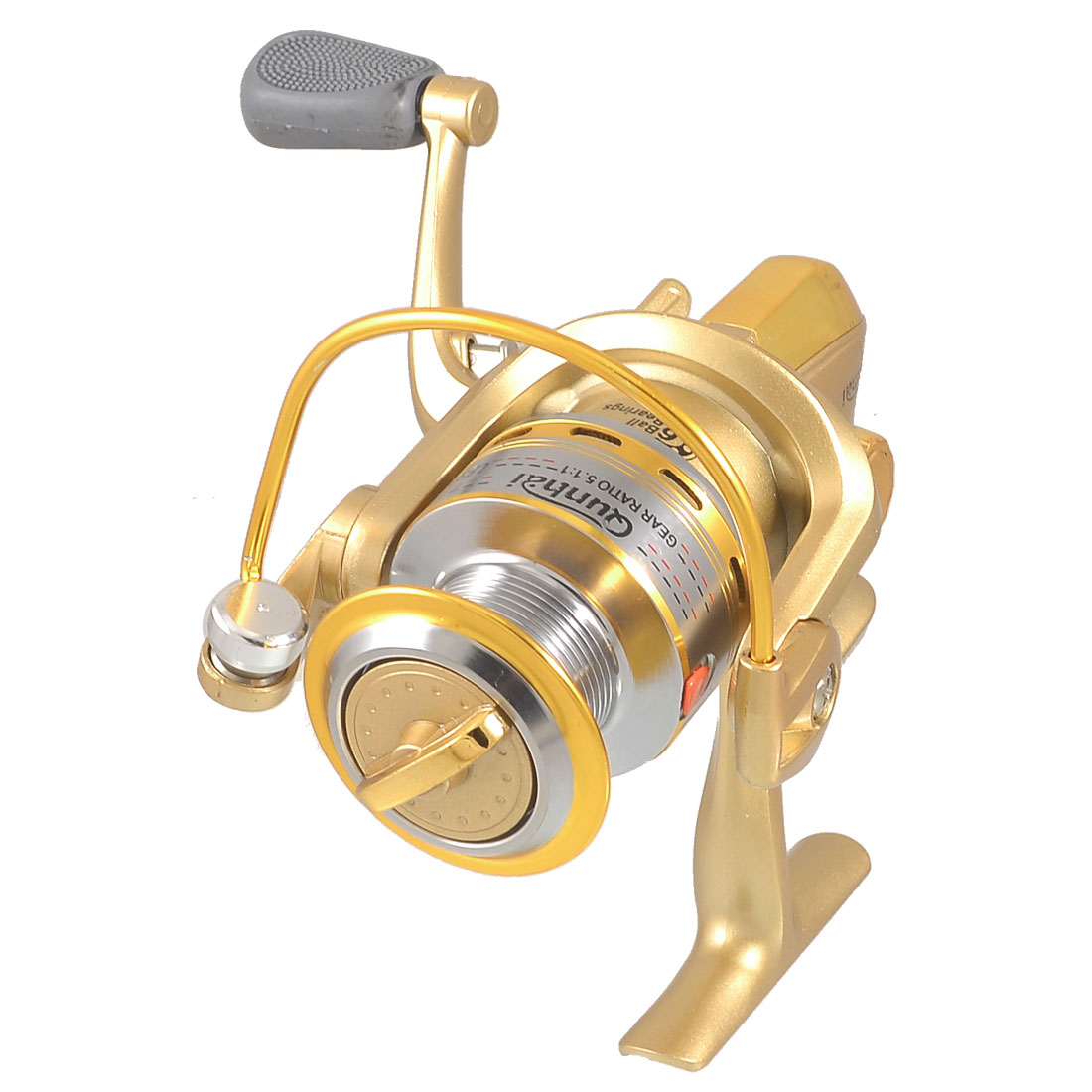 ST4000 5.1:1 Gear Ratio 6 Ball Bearings Fishing Spinning Reel Gold Tone