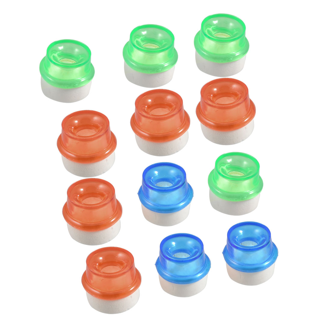 Kitchen Tri Colors Soft Plastic 14mm Dia Outlet Tap Water Filters 12 Pcs