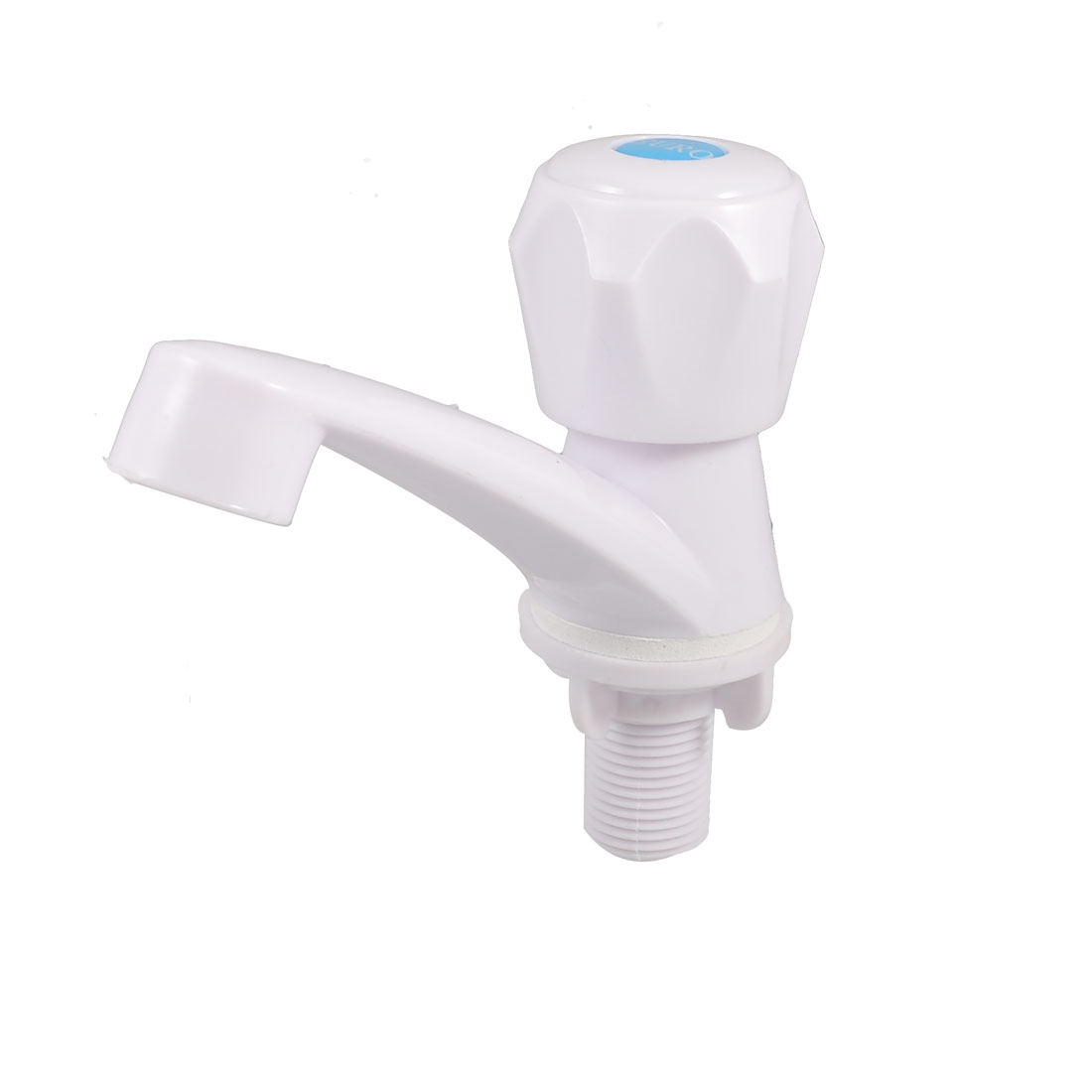 Kitchen White Plastic Male Thread Rotary Hex Knob Water Tap Faucet