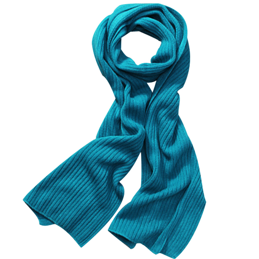 "Mens Teal Color Winter Cozy Stylish Crinkled Texture 11.8"" Width Soft Wrap Shawl"
