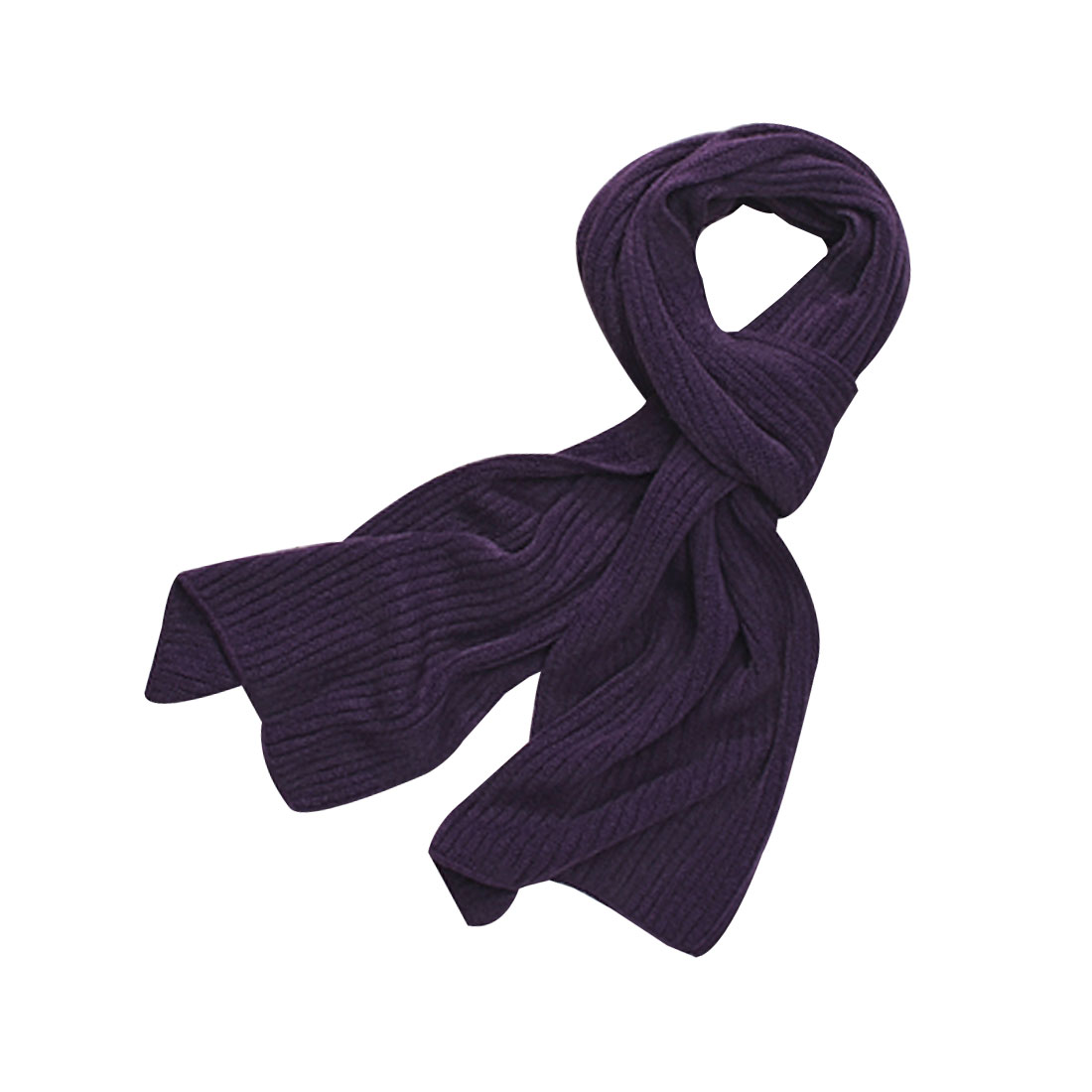 Mens Dark Purple Textured Design Simple Rectangular Shaped Scarf Shawl