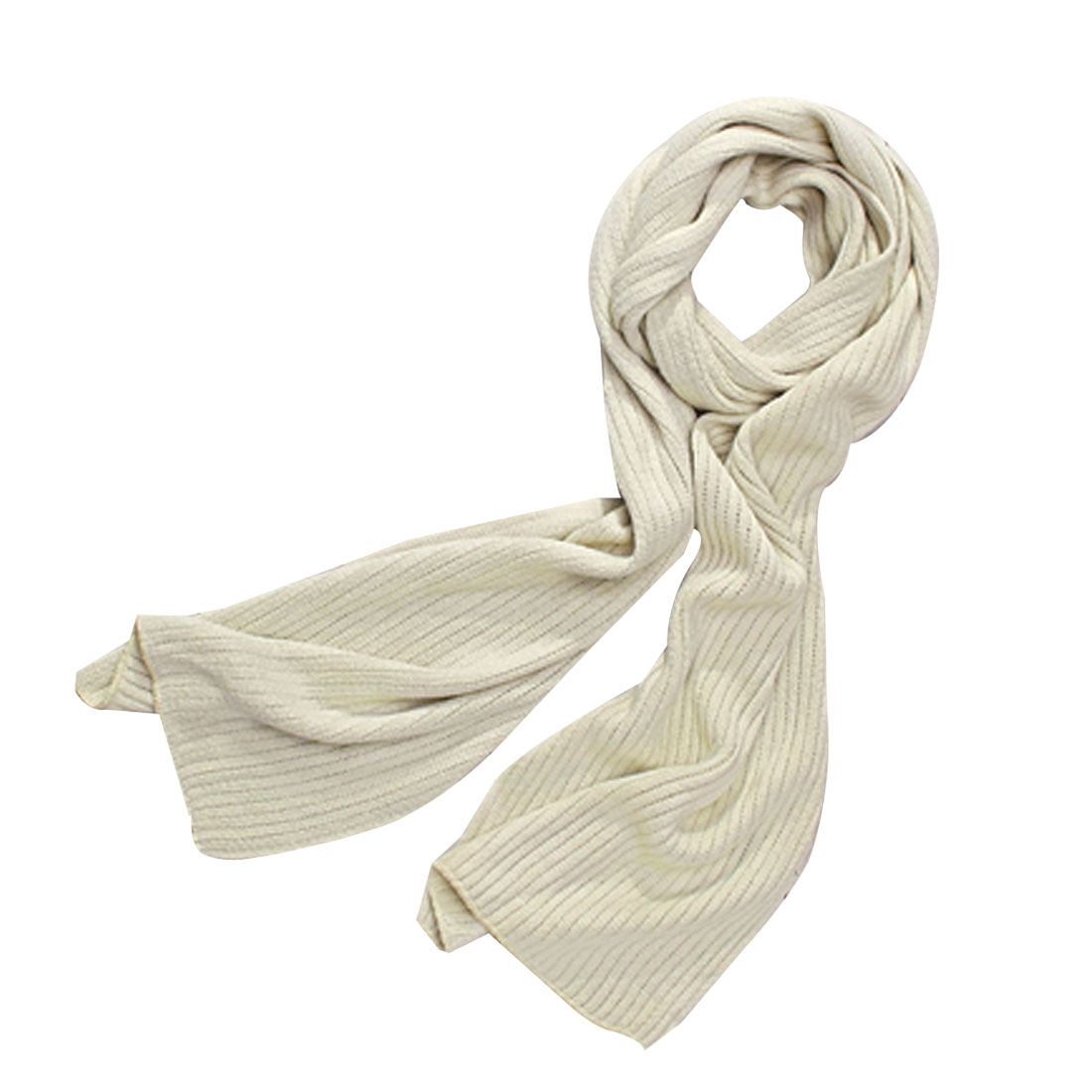 "Mens Pale Khaki Color Textured Arylic 76"" Length Simple Design Warm Scarf Shawl"