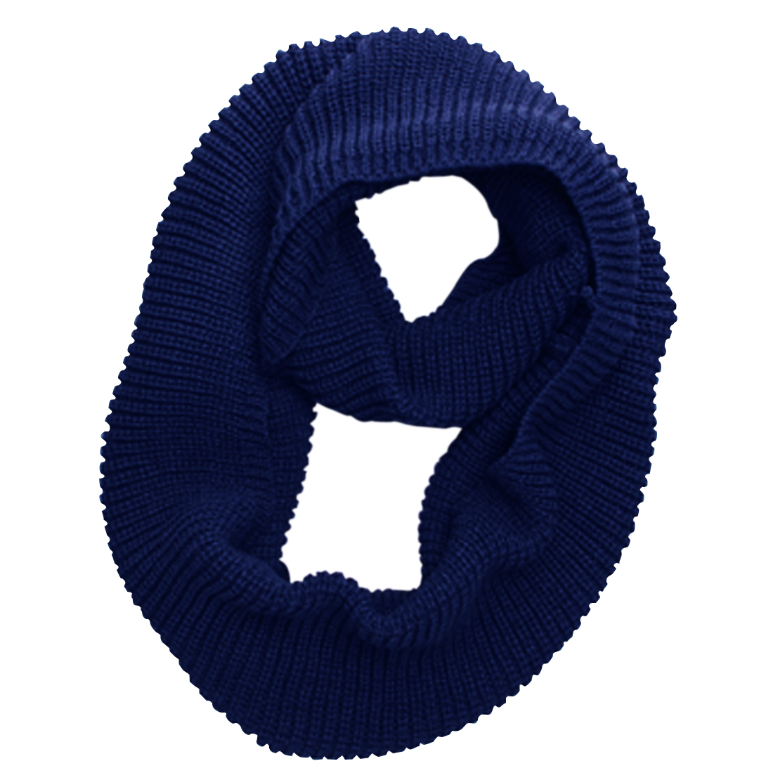 Men Royal Blue NEW Simple Solid Color Warm Circle Cowl Scarf