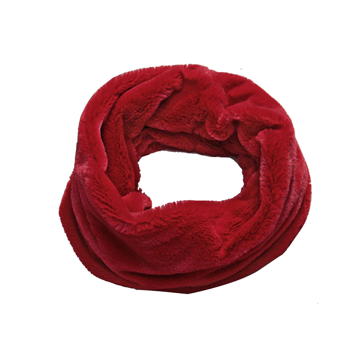 Mens All Over Warm Textured Plush Turtle Neck Design Red Scarves