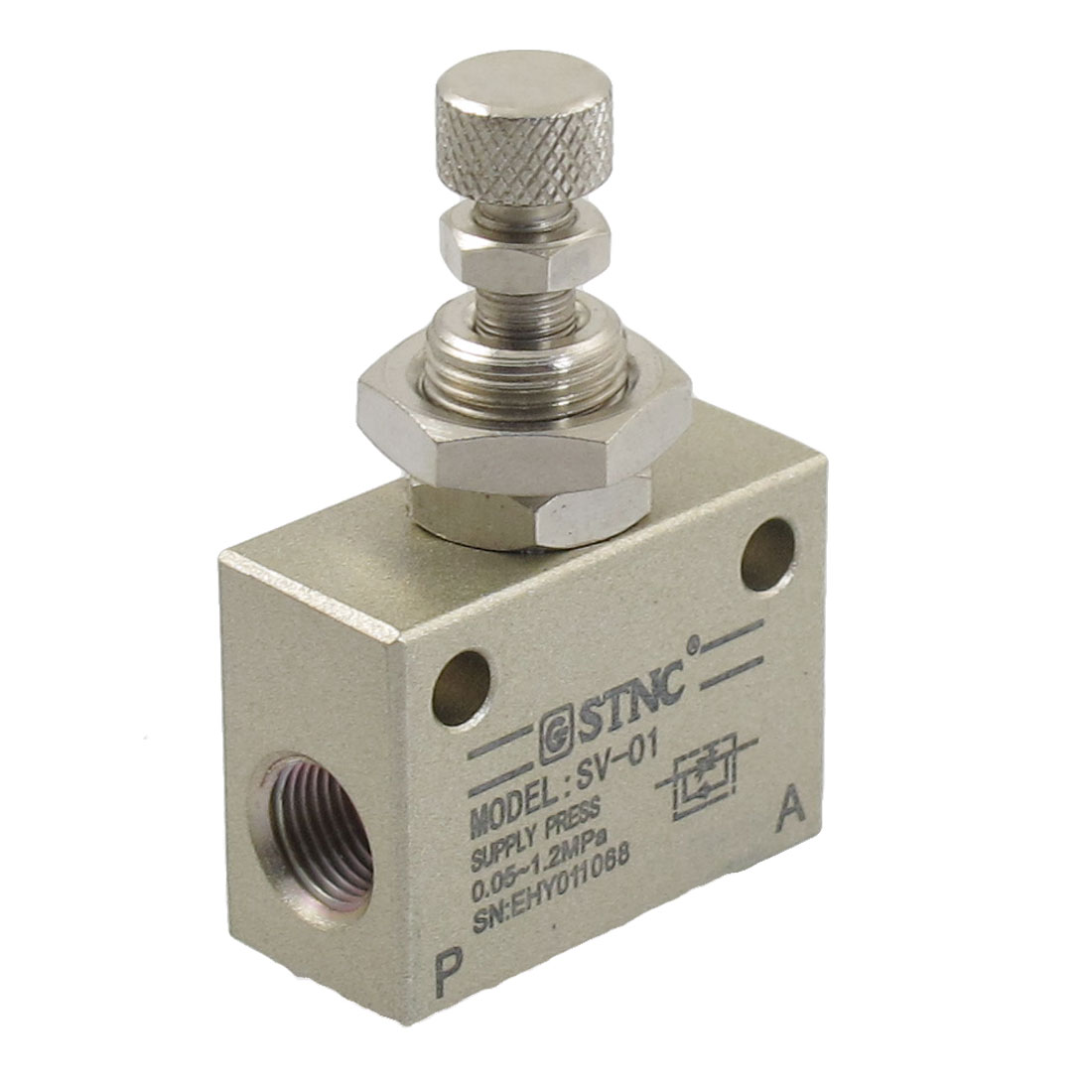 "1/8""PT One Way Metal Air Flow Control Mechanical Pneumatic Gas Valve"
