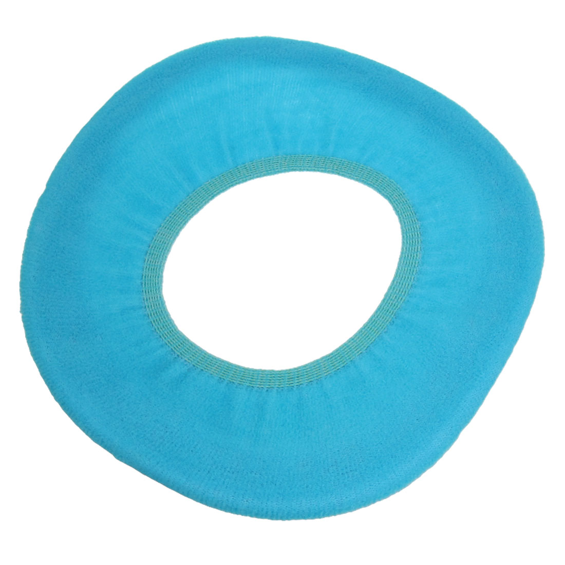 "11.8"" Outer Dia. Bathroom Toilet Warmer Seat Blue Cloth Cover Pads"