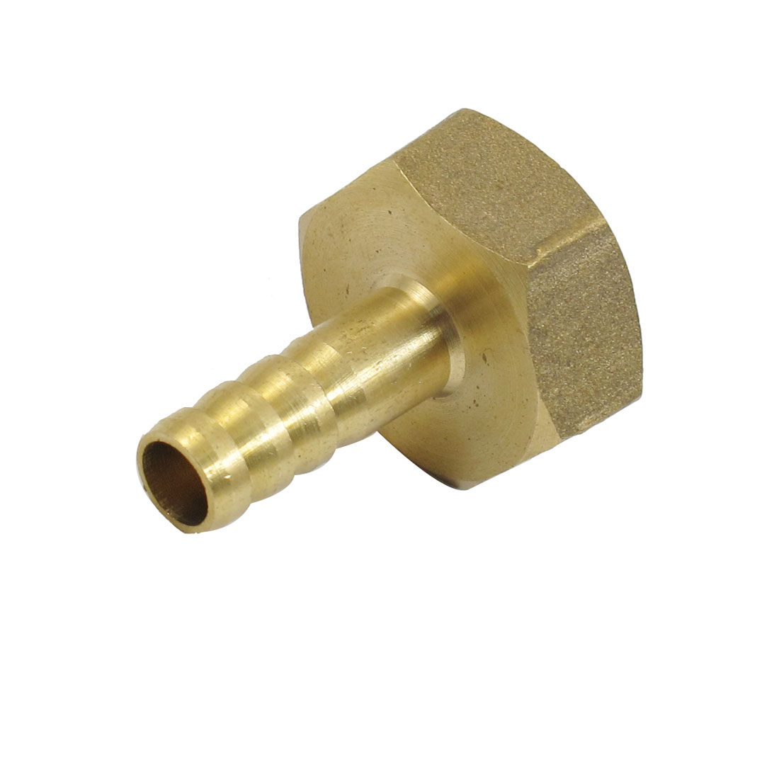 6mm Fuel Hose Barb x 1/2PT Female Thread Straight Coupling Brass Fitting
