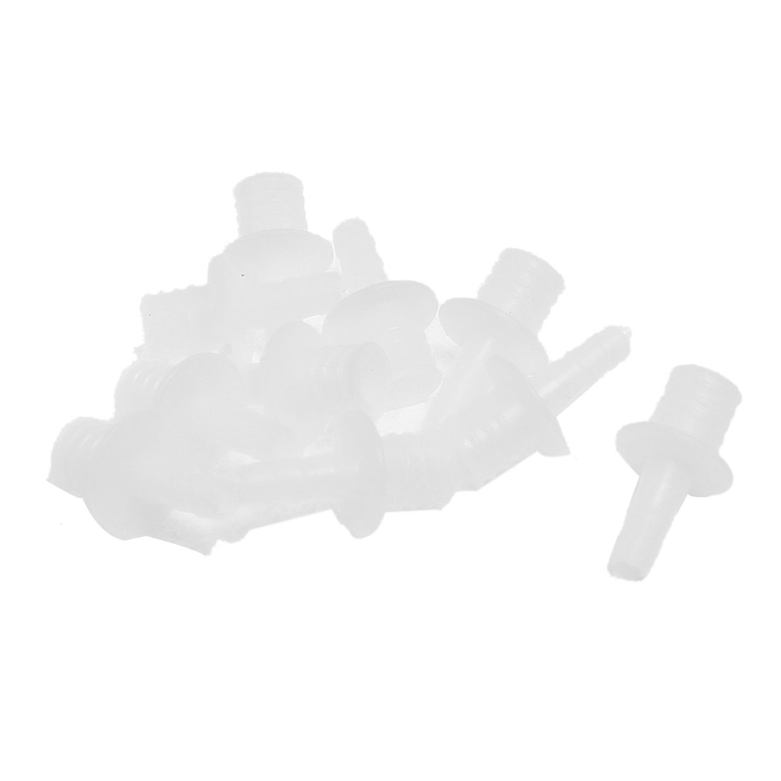 10 Pcs White Plastic Aquarium One Way Airline Tubing Connector