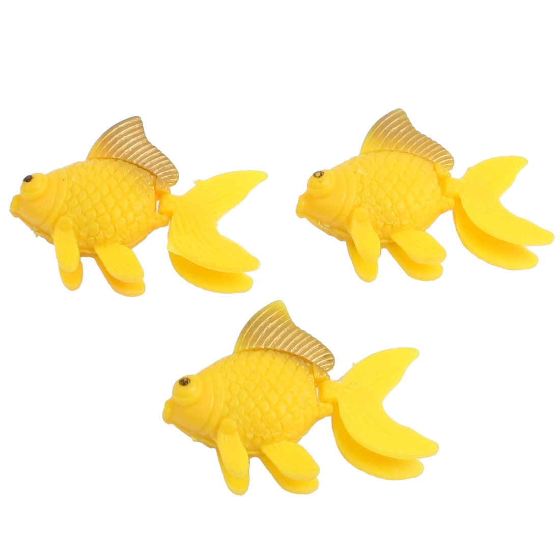 Aquarium Fish Tank Aquascaping Simulated Orange Goldfish 3 Pcs
