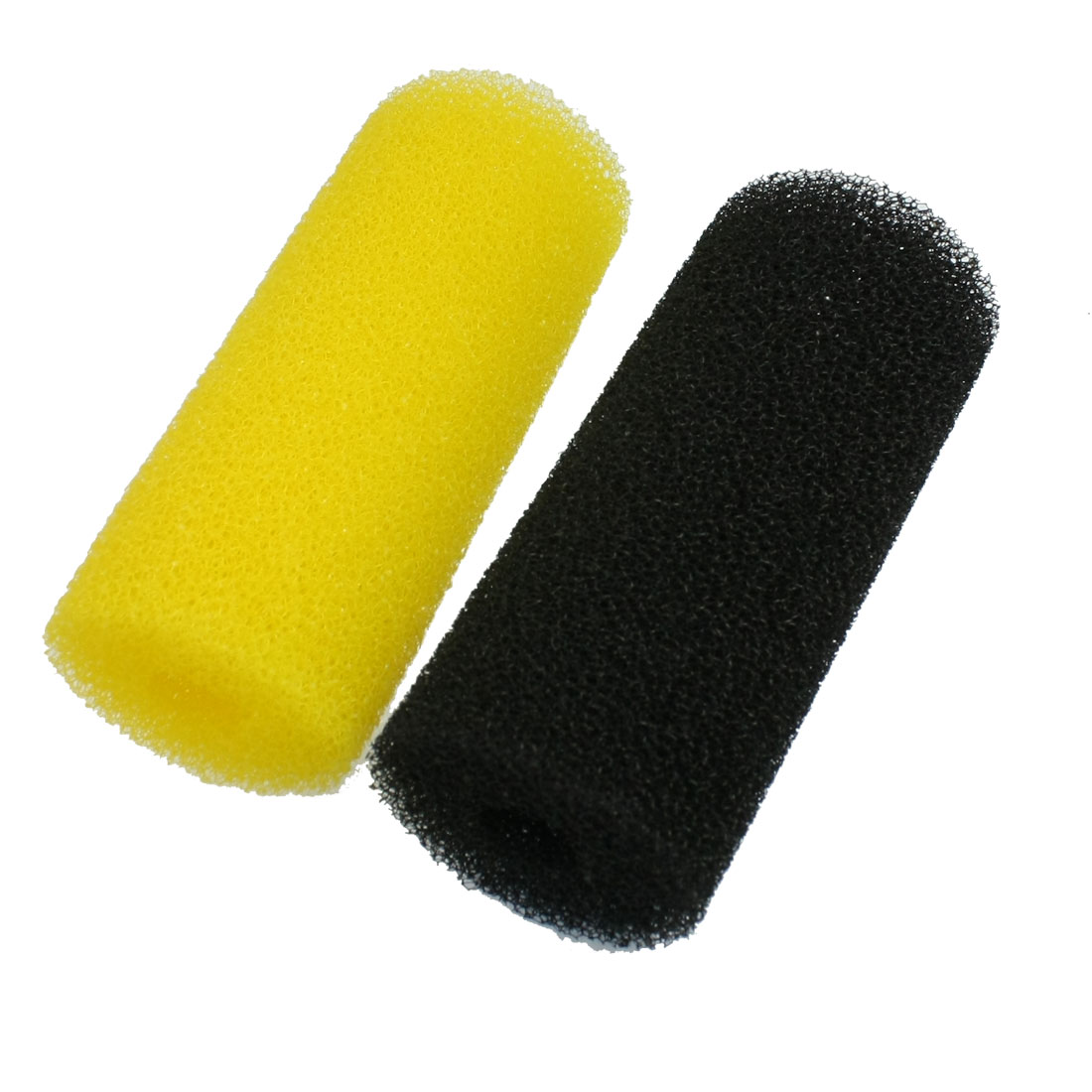 "5.9"" Fish Tank Water Cleaning Biochemical Filtration Filter Sponge Black Yellow 2 Pcs"