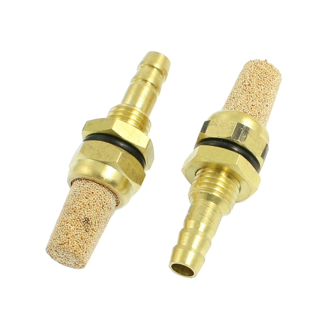 2 Pieces 9.5mm Diameter Screw Thread Muffler Air Bubble Stone for Fish Tank